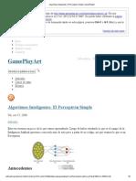 Algoritmos Inteligentes_ El Perceptrón Simple_GamePlayArt
