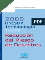 Unisdr Terminologia Sobre Reduccion Del Riesgo de Desastres