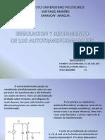 Rendimiento y Regulacion de Auto Transformador