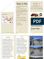 tournament brochure