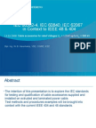 Exploration of IEC60502-4&IEC60840 as Compared to IEEE404-2006