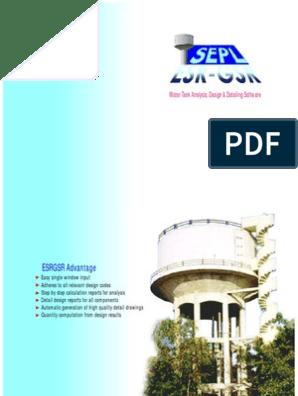 Water Tank Analysis, Design & Detailing Software | Engineering