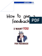 6. How to Give Feedback