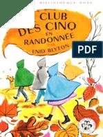 Club Des Cinq 10 Le Club Des Cinq en Randonnee - Enid Blyton