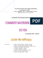 COLLOQUE Comment Maitriser Acidite Vin Integral