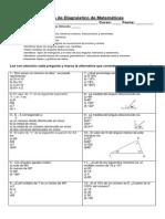 Prueba de Diagnostico de Matemáticas Sexto Semestre Dos