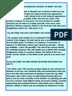 Tips on Public Speaking