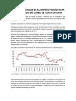 Análise de Mercado de Caminhões Pesados Para a Região Oeste Do Estado de Santa Catarina