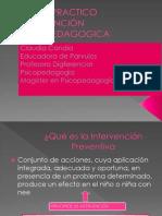 Taller Practico Intervención Psicopedagogica 2014