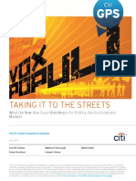 Citigroup Study on Global Protests