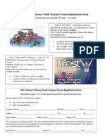Mt. Calvary Summer Events Registration