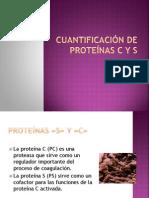 Cuantificación de Proteínas C y S