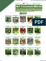 Katalog Bibit Berkualitas Petani - Jual Bibit Tanaman Murah Dan Unggul