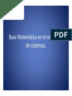 Base Matematica en El Modelado de Sistemas