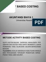 Akuntansi Manajemen Aktivity Based Costing