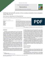 Actividades Antifúngica y Citotóxica de Los Metabolitos Secundarios de Hongos Endófitos Massrison Sp.