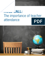 Teacher Attendance Report