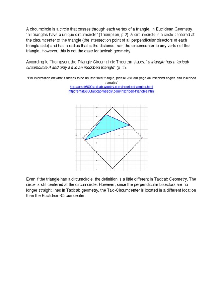Circumcenter Theorem Definition Geometry
