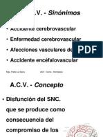 Acv, Coma y Hemiplejía