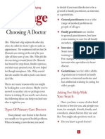 Choosing a Doctor 0