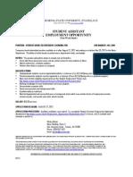 Muisc Recruitmenet Coordinator Position
