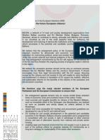 BCSDN EP Elections 2009 Manifesto