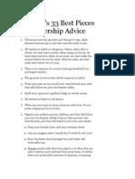 Sun Tzu's 33 Pieces of Advice