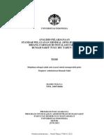 Analisis Pelaksanaan SPM Rumah Sakit