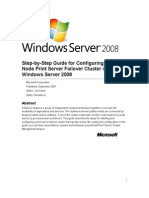 Step-By-Step Guide for Configuring a Two-Node Print Server Failover Cluster in Windows Server 2008