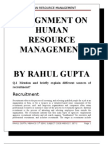 Assignment on human resource management