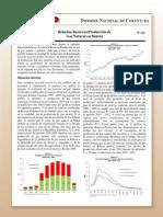 Relacion Reservas Produccion de Gas Natural en Bolivia
