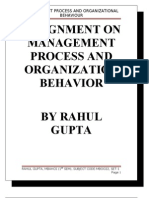 Assignment on Management process and Organization Behavior