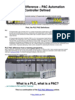 PLC vs PAC explained and definition