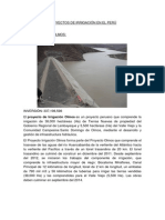 Proyectos de Irrigación en El Perú