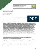 Lista de Exercicio Engenharia de Software Arivaldo Bispo g5