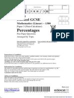 Percentages (1)