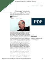 ¿La Iglesia Católica Debe Seguir Siendo Subvencionada Por El Estado Peruano_ - Generaccion
