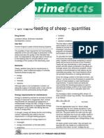 Full Hand Feeding of Sheep Quantities