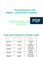 Floriculture Business in the Nilgiris - An Economic