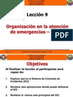 AV 9 Organizacion en La Atencion de Emergencias
