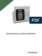 Manual de Operare, Instalare Si Intretinere Gasmaster