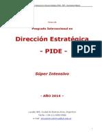 PIDE Posgrado Internacional en Dirección Estrategica - Septiembre 2014
