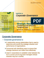 Strategic MAnagment-Corporate Governance