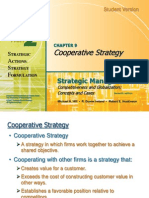 Strategic MAnagment-Cooperative strategy