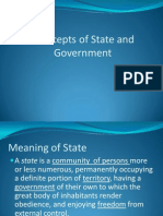 Concepts of State and Government