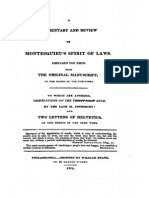 A Commentary and Review of Montesquieu's 'Spirit of Laws' [1811]