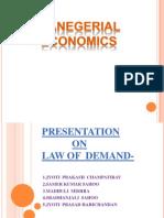 Me Presentation on Law of Demand