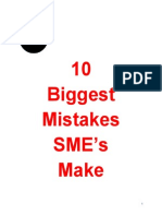 10 Biggest Mistakes SME's Make