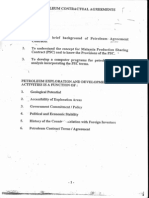 Petroleum Contractual Agreement
