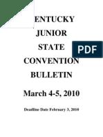 2009-2010 Kentucky Junior Convention Bulletin (2)